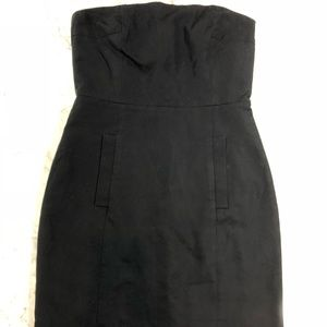 J crew black strapless dress size 6